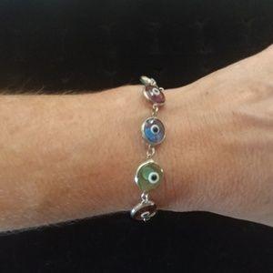 925 Sterling silver eye bracelet